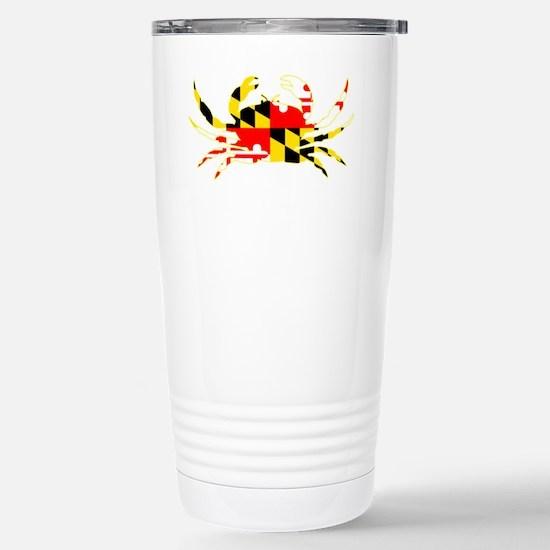 Maryland Crab Stainless Steel Travel Mug