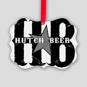 Hutch Beer Black Picture Ornament