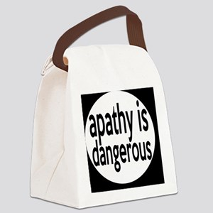 apathybutton Canvas Lunch Bag