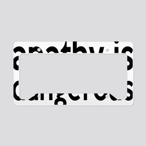 apathyrectangle License Plate Holder