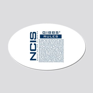 NCIS Gibbs Rules Wall Decal