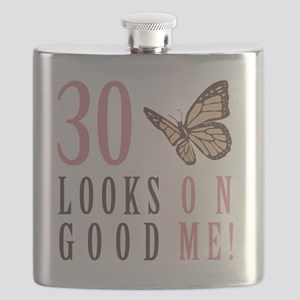 30th Birthday Butterfly Flask