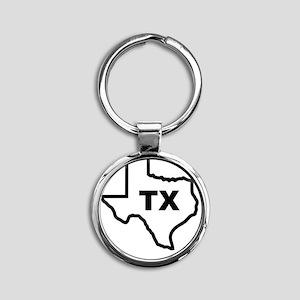 TX - Texas Round Keychain