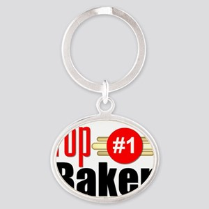 Top Baker Oval Keychain