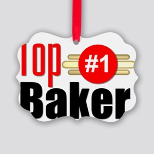 Top Baker Picture Ornament