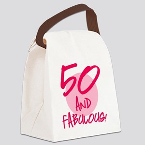 50 And Fabulous Canvas Lunch Bag