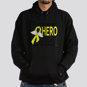 D Sarcoma Bravest Hero I Ever Knew Hoodie (dark)