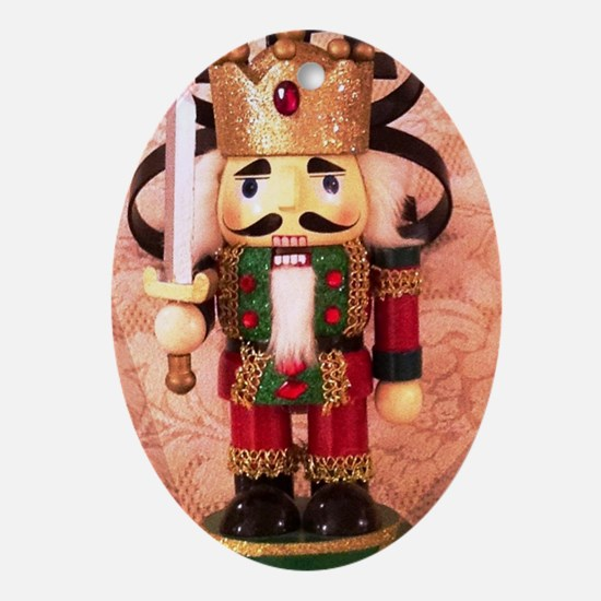 Holiday Nutcracker Oval Ornament