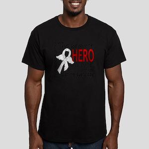 D Mesothelioma Bravest Men's Fitted T-Shirt (dark)