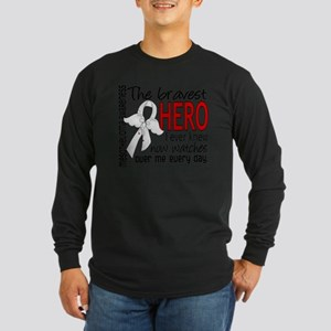 D Mesothelioma Bravest He Long Sleeve Dark T-Shirt