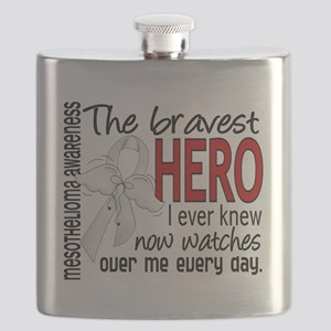 D Mesothelioma Bravest Hero I Ever Knew Flask