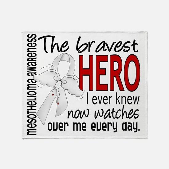 D Mesothelioma Bravest Hero I Ever K Throw Blanket