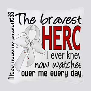 D Mesothelioma Bravest Hero I  Woven Throw Pillow