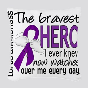 D Lupus Bravest Hero I Ever Kn Woven Throw Pillow