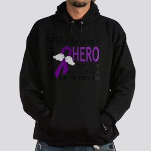 D Lupus Bravest Hero I Ever Knew Hoodie (dark)