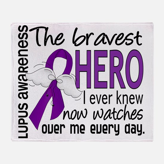 D Lupus Bravest Hero I Ever Knew Throw Blanket
