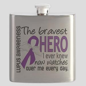 D Lupus Bravest Hero I Ever Knew Flask