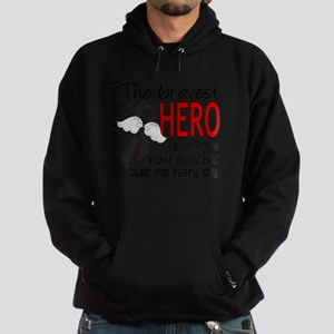 D Melanoma Bravest Hero I Ever Knew Hoodie (dark)