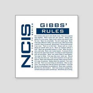 NCIS Gibbs Rules Sticker