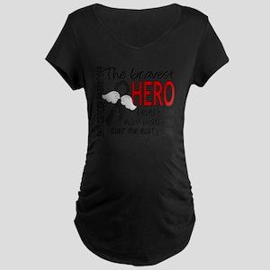 D Skin Cancer Bravest Hero  Maternity Dark T-Shirt