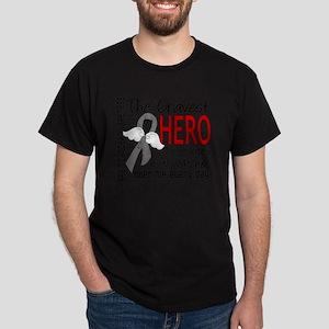 D Brain Cancer Bravest Hero I Ever Kn Dark T-Shirt