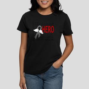 D Brain Cancer Bravest Hero I Women's Dark T-Shirt