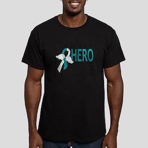 D Cervical Cancer Brav Men's Fitted T-Shirt (dark)