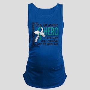 D Cervical Cancer Bravest Hero  Maternity Tank Top