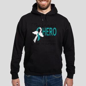 D Cervical Cancer Bravest Hero I Eve Hoodie (dark)