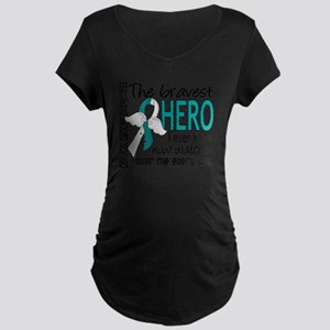D Cervical Cancer Bravest H Maternity Dark T-Shirt