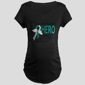 D Cervical Cancer Bravest H Maternity Dark T-Shirt