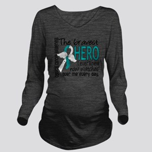 D Cervical Cancer Br Long Sleeve Maternity T-Shirt