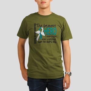 D Cervical Cancer Bra Organic Men's T-Shirt (dark)
