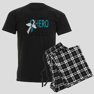 D Cervical Cancer Bravest Hero Men's Dark Pajamas