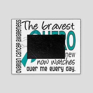 D Ovarian Cancer Bravest Hero I Ever Picture Frame