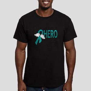 D Ovarian Cancer Brave Men's Fitted T-Shirt (dark)