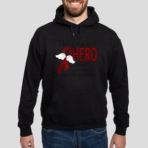D Multiple Myeloma Bravest Hero I Ev Hoodie (dark)