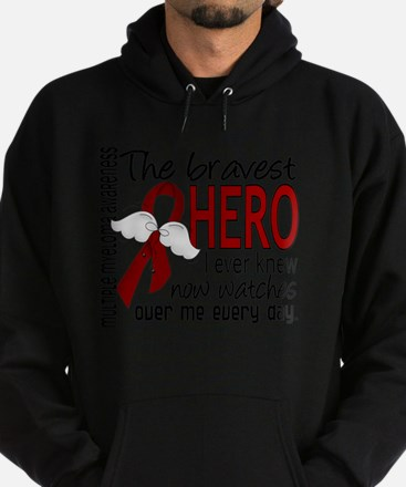 D Multiple Myeloma Bravest Hero I Ev Hoodie (dark)