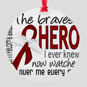 D Multiple Myeloma Bravest Hero I E Round Ornament