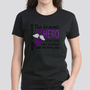 D Pancreatic Cancer Bravest H Women's Dark T-Shirt