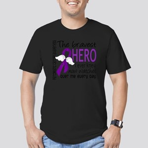 D Pancreatic Cancer Br Men's Fitted T-Shirt (dark)
