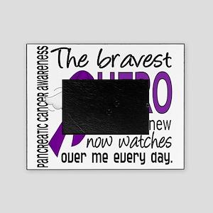 D Pancreatic Cancer Bravest Hero I E Picture Frame