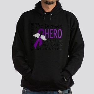 D Pancreatic Cancer Bravest Hero I E Hoodie (dark)