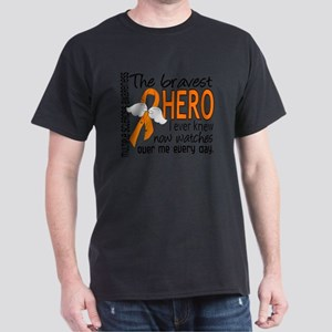 D Multiple Sclerosis Bravest Hero I E Dark T-Shirt