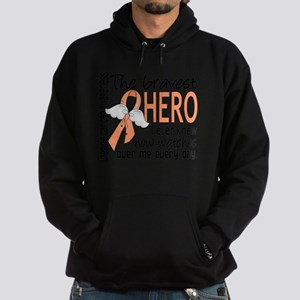 D Uterine Cancer Bravest Hero I Ever Hoodie (dark)