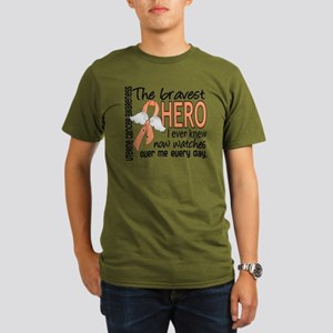 D Uterine Cancer Brav Organic Men's T-Shirt (dark)