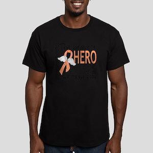 D Uterine Cancer Brave Men's Fitted T-Shirt (dark)