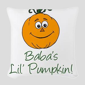 Baba Little Pumpkin Woven Throw Pillow