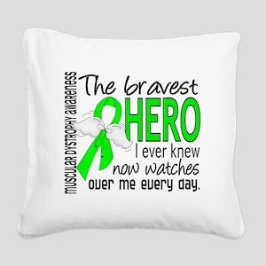 D Muscular Dystrophy Bravest  Square Canvas Pillow