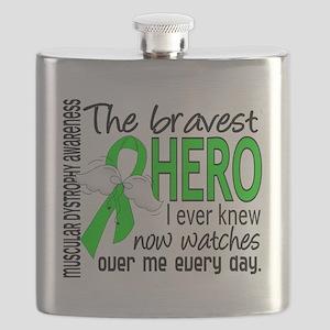 D Muscular Dystrophy Bravest Hero I Ever Kne Flask